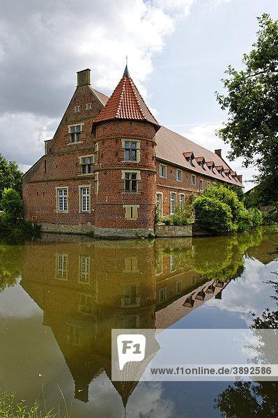 Wasserschloss Haus Vögeding  Münster  Nordrhein-Westfalen  Deutschland  Europa
