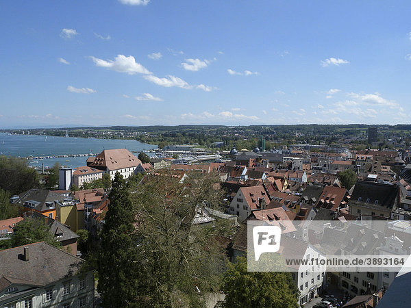 View from the Cathedral of Constance  Konstanz  Lake Constance  Baden-Wuerttemberg  Germany  Europe