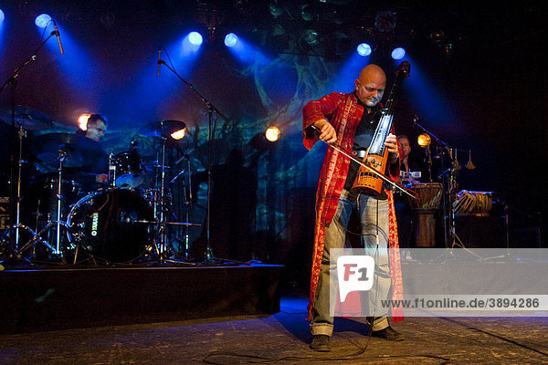 Swiss musician and composer Mich Gerber live in the Schueuer concert venue  Lucerne  Switzerland