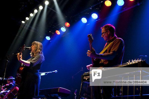 The U.S. dark-folk singer-songwriter Emily Jane White with live band in the Treibhaus venue  Lucerne  Switzerland