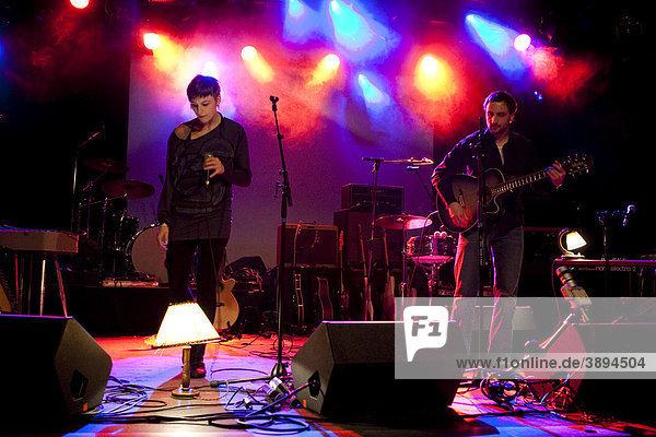 The Swiss singer-songwriter Maya Turbo live in the Schueuer venue  Lucerne  Switzerland