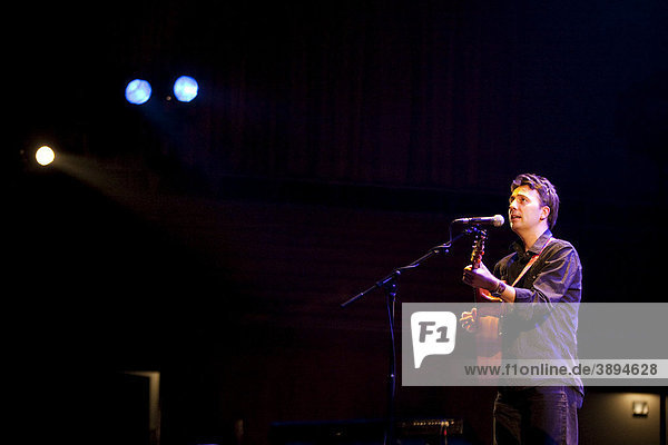 Irish singer and songwriter Paul Casey performing live in the concert hall at the KKL in Lucerne  Switzerland  Europe