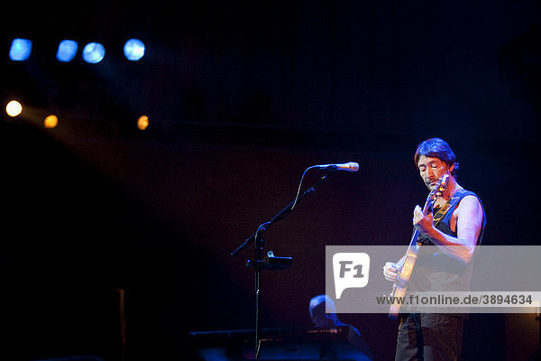 British singer and songwriter Chris Rea performing live in the concert hall at the KKL in Lucerne  Switzerland  Europe