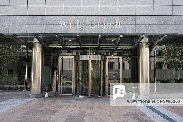 Eingang Willy Brandt  Europäisches Parlament  Brüssel  Belgien  Europa
