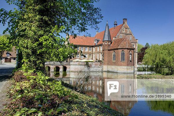 Burg Hülshoff  Havixbeck  Münsterland  Nordrhein-Westfalen  Deutschland  Europa