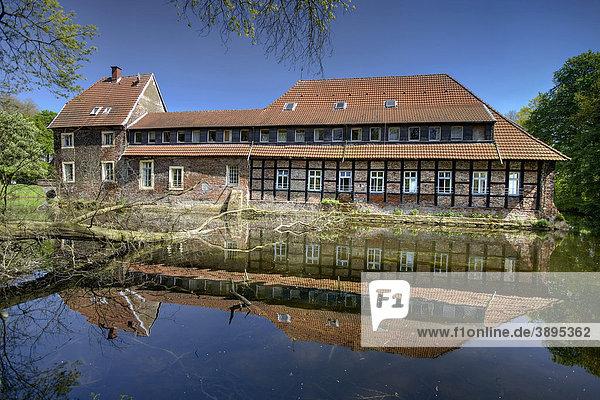 Schloss Senden  Wasserschloss  Münsterland  Nordrhein-Westfalen  Deutschland  Europa