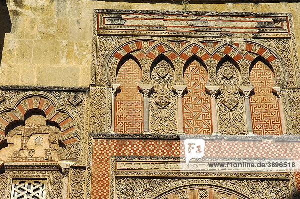 Detail der Westfassade der Großen Moschee  Cordoba  Andalusien  Spanien  Europa