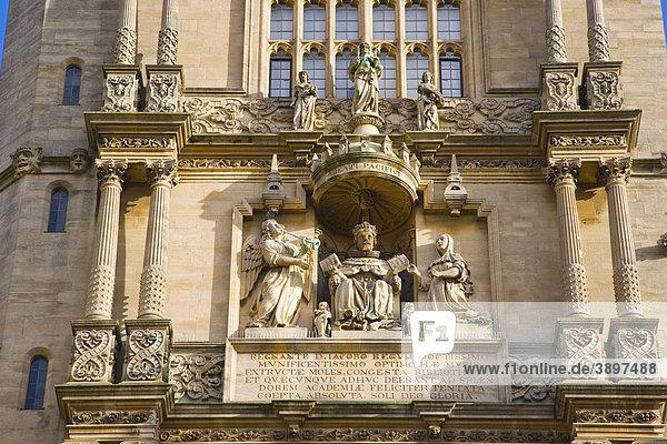 Detail des Tower of the Five Orders Turms  Bodelian Library Universitätsbibliothek  Oxford  Oxfordshire  England  Vereinigtes Königreich  Europa