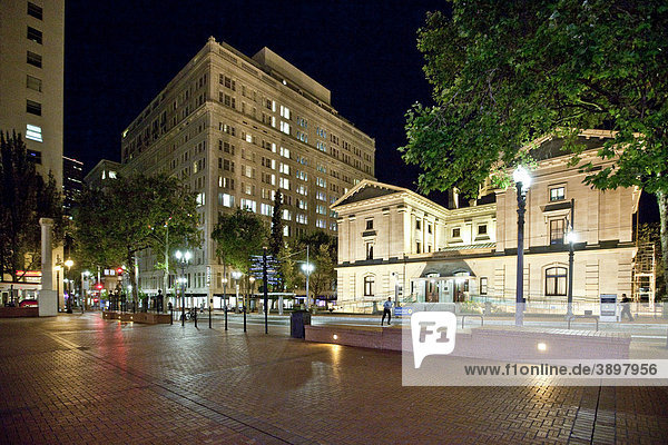 Das Pioneer Courthous  Pioneer Courthouse Square  Portland  Oregon  USA