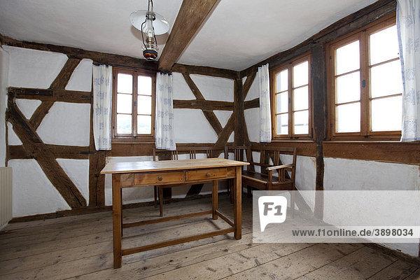 Innenansicht  Stadtturm Bayersturm  benannt nach der Türmerfamilie Bayer  Lohr am Main  Hessen  Deutschland  Europa