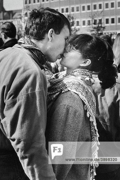 Junges Paar  DDR  Deutschland  Europa  ca. 1985