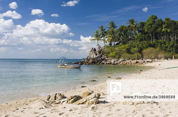 Palmenstrand  Klong Khong Beach  Insel Ko Lanta oder Koh Lanta  Krabi  Thailand  Asien