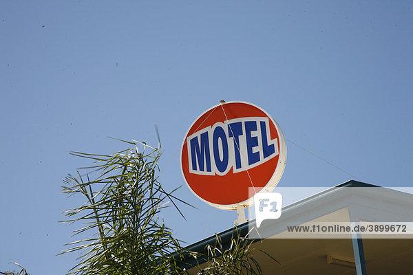Motelschild  Kangaroo Island  South Australia  Australien