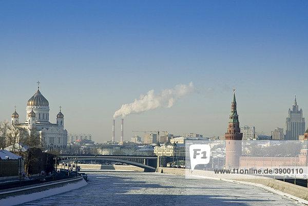 Fluss Moskwa  Moskau  Russi