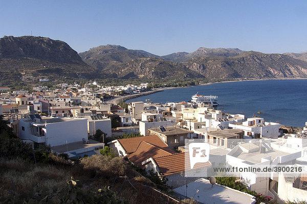 Blick auf Paleochora  Kreta  Griechenland  Europa