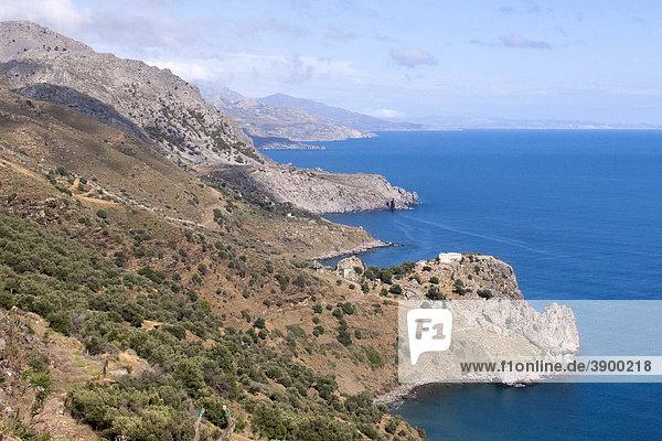 Küstenlandschaft bei Plakias  Kreta  Griechenland  Europa