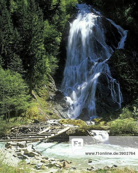 Wasserfall  Kalser Tal  Osttirol  Österreich  Europa