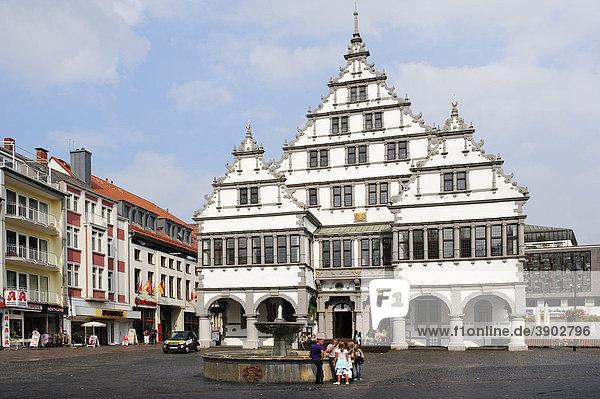 Town hall  Paderborn  North Rhine-Westphalia  Germany  Europe