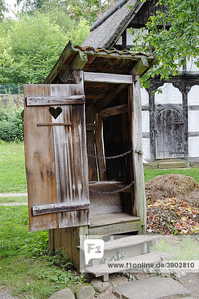 Outhouse  open air museum Detmold  North Rhine-Westphalia  Germany  Europe