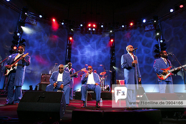 The American gospel group The Blind Boys of Alabama live at the Blue Balls Festival in the concert hall of the KKL in Lucerne  Switzerland