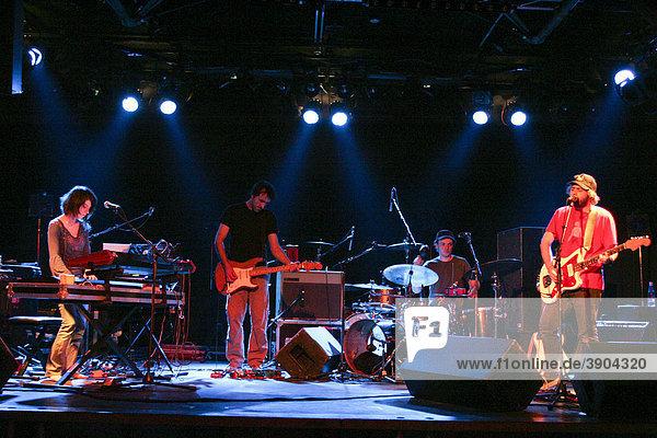 The French rock band Cyann & Ben live at the Schueuer venue  Lucerne  Switzerland