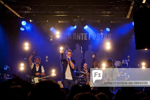 The Swiss pop and rock band Dada ante portas live at the Schueuer venue  Lucerne  Switzerland
