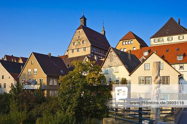 Stadtbild mit Rathaus  Besigheim  Neckartal  Baden-Württemberg  Deutschland  Europa