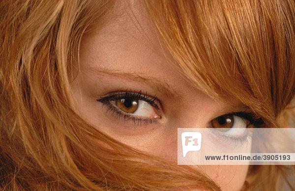 braune augen rote haare
