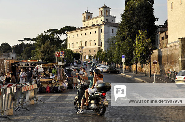 Villa Medici  Viale Trinit‡ dei Monti  Rom  Latium  Italien  Europa