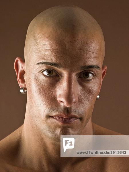 Glatze Mann