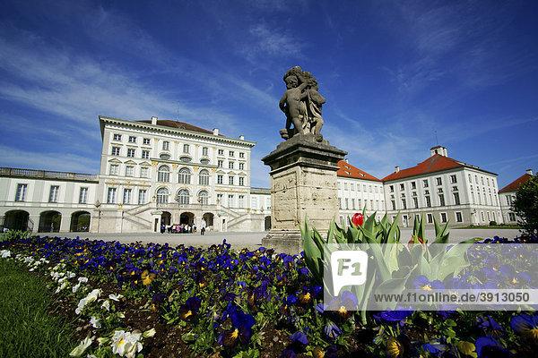 Nymphenburger Schloss  München  Bayern  Deutschland  Europa