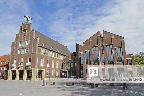 Rathaus  Rathausplatz  Ahaus  Münsterland  Nordrhein-Westfalen  Deutschland  Europa