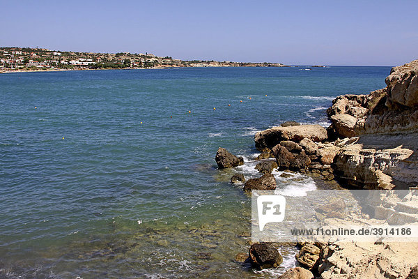 Bucht  Chersonissos  LimÌn ChersÛnisou  Kreta  Griechenland  Europa