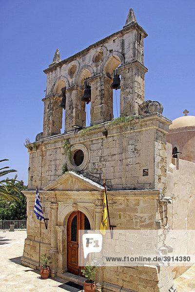 Glockenturm  Kirche  Mesi  Bergdorf  Kreta  Griechenland  Europa