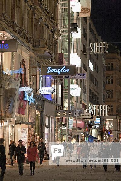 Kaerntner Strasse street  Vienna  Austria  Europe