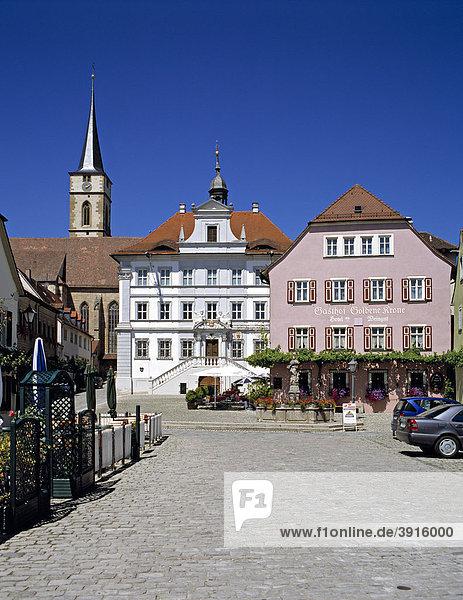 Marktplatz  market square  Iphofen  Lower Franconia  Bavaria  Germany  Europe