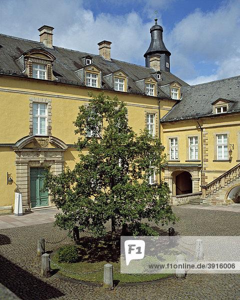 Innenhof vom Schloss Bad Wildungen  Hessen  Deutschland  Europa