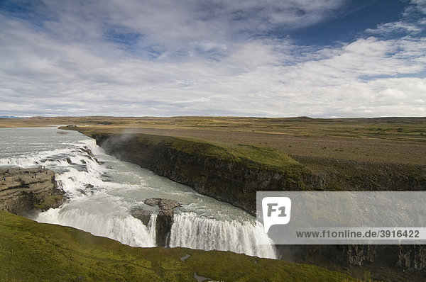 Gullfoss waterfall  Iceland  Europe