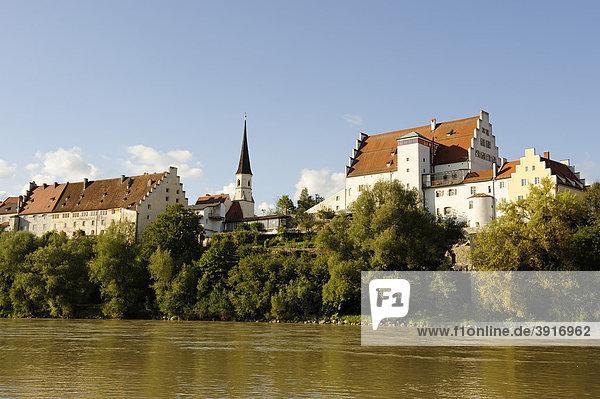 Burg über dem Inn  Wasserburg am Inn  Oberbayern  Bayern  Deutschland  Europa