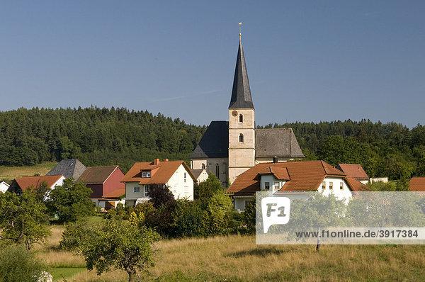 Ortsansicht von Volsbach  Fränkische Schweiz  Franken  Bayern  Deutschland  Europa
