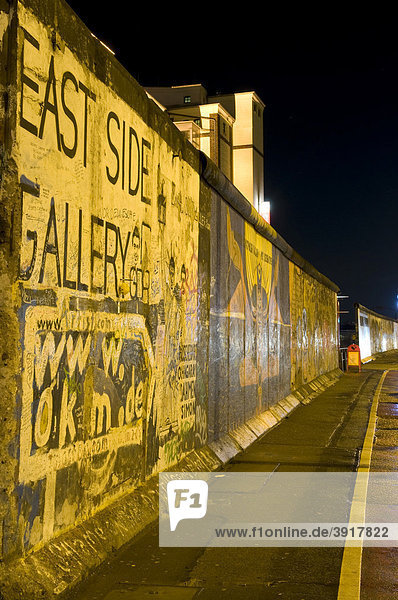 Wall Gallery with remnants of the Berlin Wall  Berlin  Germany  Europe
