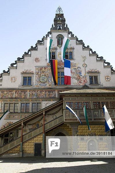 Altes Rathaus in der Altstadt  Lindau  Bodensee  Bayern  Deutschland  Europa