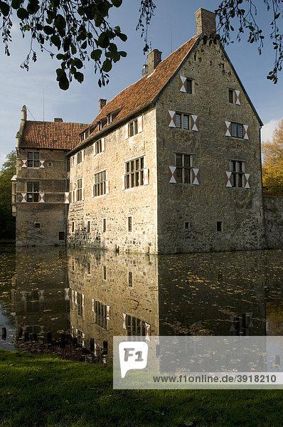 Wasserburg Burg Vischering in Lüdinghausen  Münsterland  Nordrhein-Westfalen  Deutschland  Europa