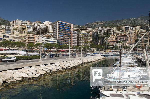 Port and view of Monte Carlo  Cote d'Azur  Monaco  Europe