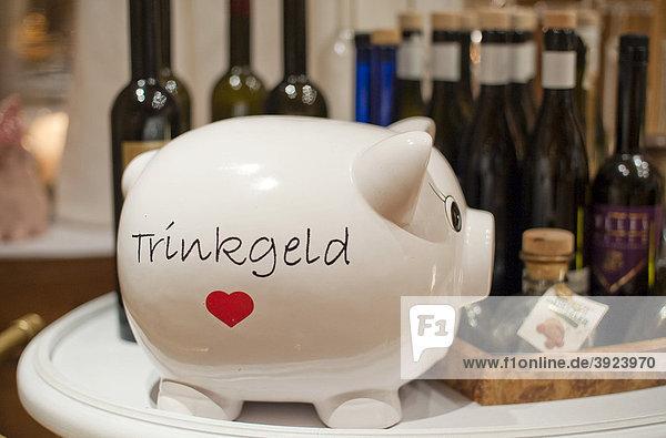Piggy bank for tips