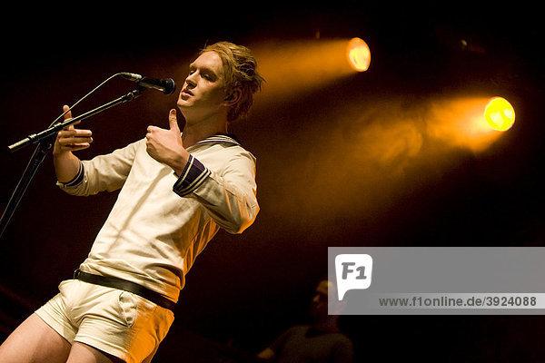 British singer and songwriter Patrick Wolf performing live in the Schueuer  Lucerne  Switzerland  Europe