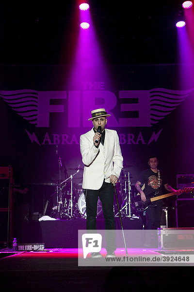 Singer and frontman Olly from the Italian rock band The Fire live at the Stadthalle Sursee  Lucerne  Switzerland