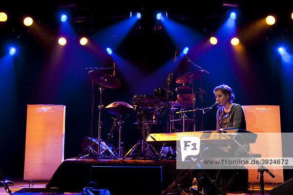 Swiss singer-songwriter Anna Aaron live in the Schueuer concert venue  Lucerne  Switzerland