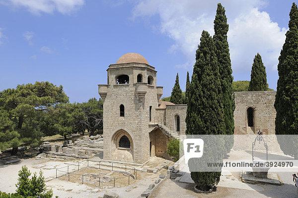 Ritterkirche  Rekonstruktion durch Italiener  FilÈrimos  Rhodos  Griechenland  Europa
