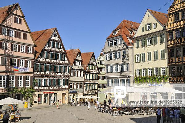 Houses on the market square  Tuebingen  Baden-Wuerttemberg  Germany  Europe